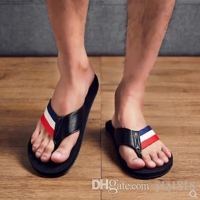 21e142d24b1c 18 Years Style Style Flip Flops Men S Summer Non Slip Slippers Korean Men S  Feet Personality Student Sandals Beach Shoes Wedges Espadrilles From  Ylz1818