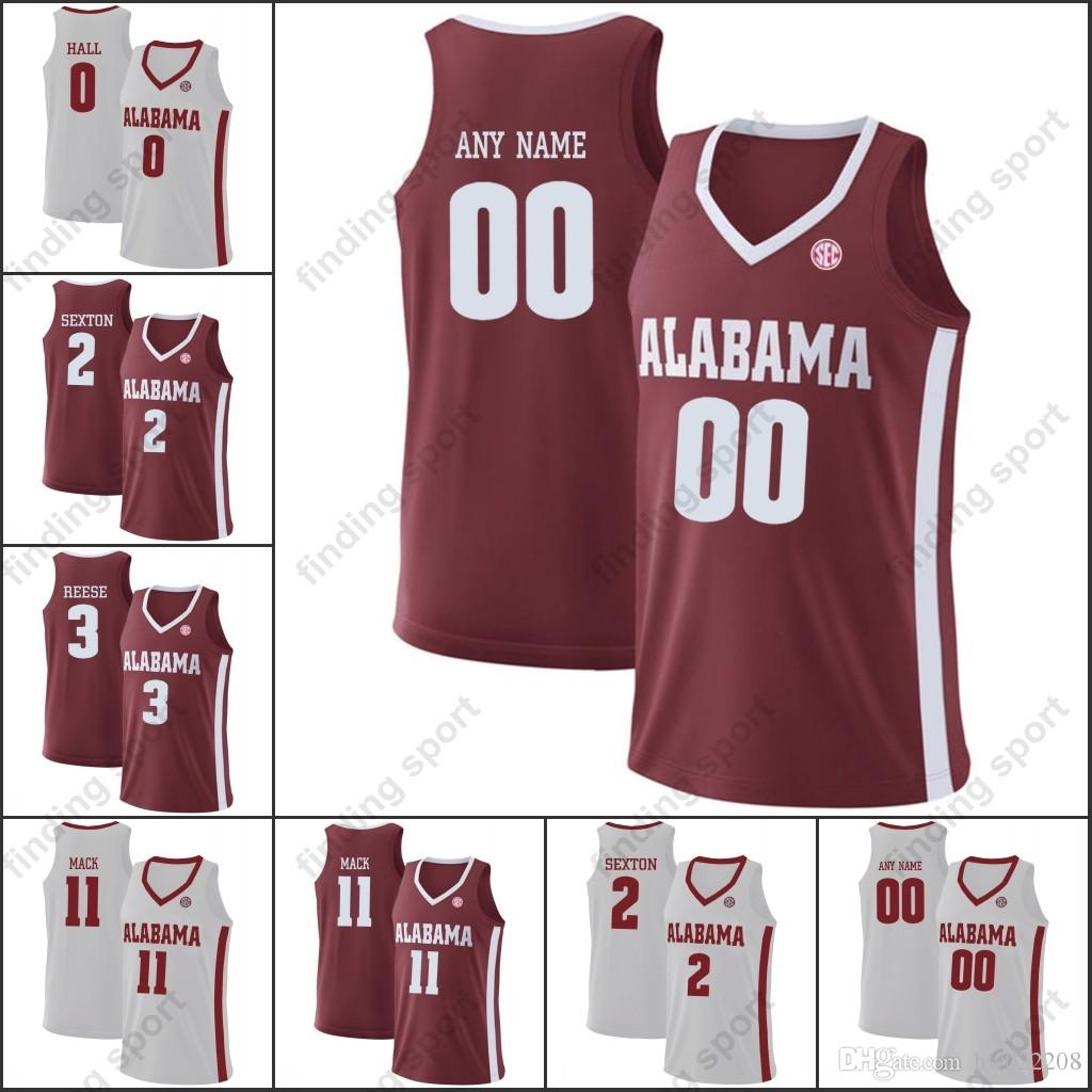 uk availability b7b8d d9bbe Custom NCAA Alabama Crimson Tide College Basketball Stitched Any Name  Number Donta Hall Collin Sexton Alex Reese Tevin Mack jerseys