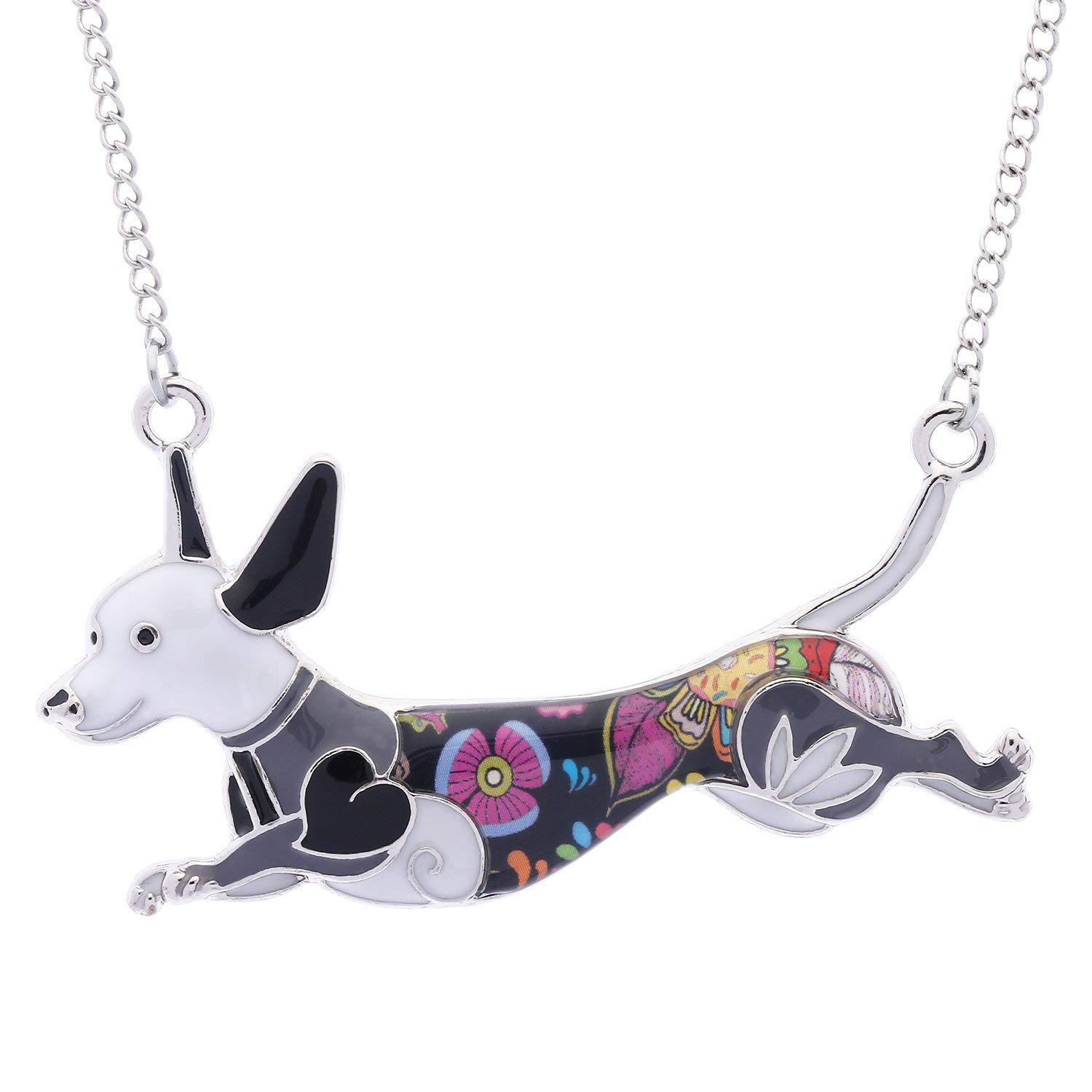 Wholesale Unique Dachshund Necklace Pendant For Women Girls Cute Dog Charm Jewelry Lover Birthday Gift Chain Mens From Zhengsu