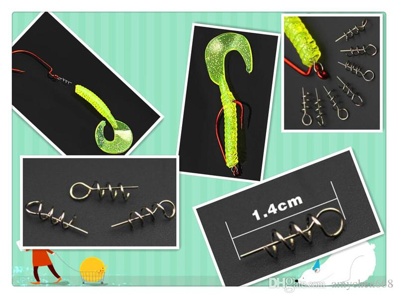 Pro Beros Handmade Soft Lure Fishing Bait Fishing Accessories Crank Hook Spring Pin Centering Pin For Soft Baits