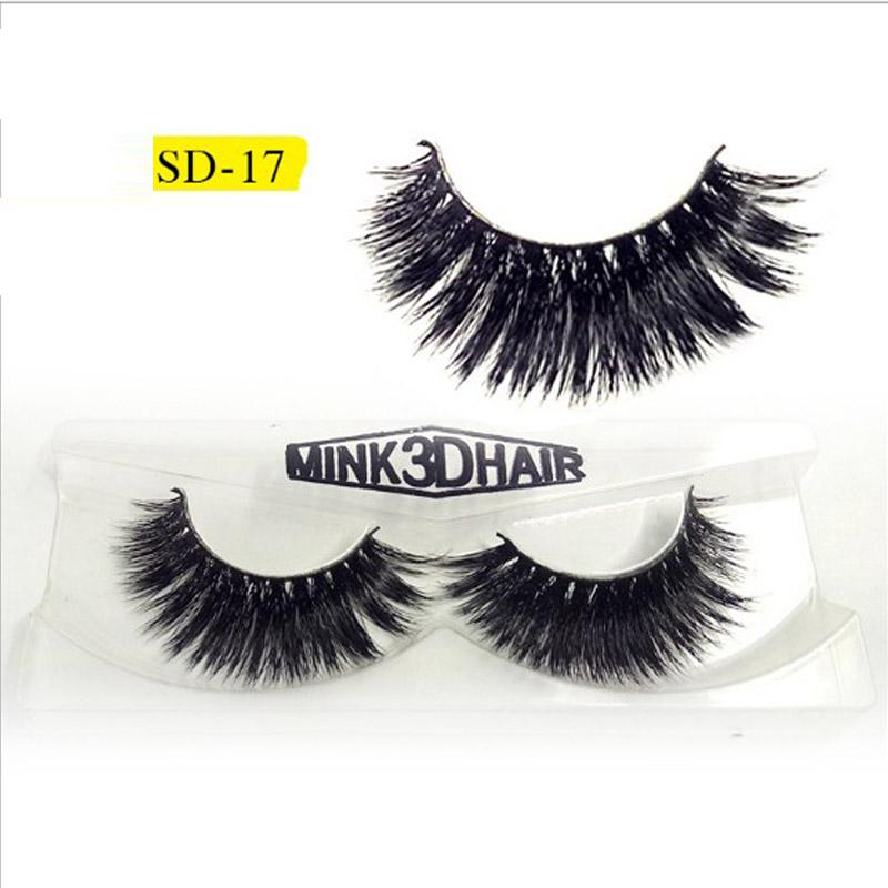 Mink Lashes 3D Mink Eyelashes Natural False Eyelashes Handmade Fake Eye Lashes Extension for Beauty Makeup SD-17