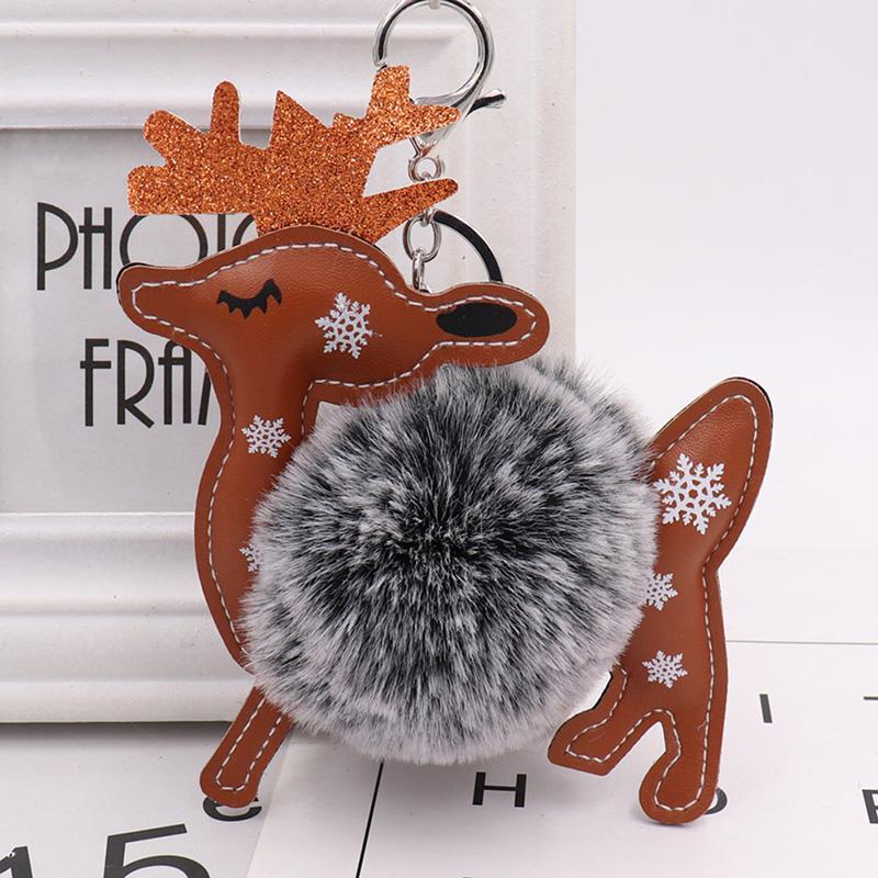 Silver Key Chain Pom Pom Elk Key Ring Ball KeyChain Pompom For Women Bag  Charms Jewelry Monkey Fist Keychain Personalized Keychain From Wanyar 40d622f938