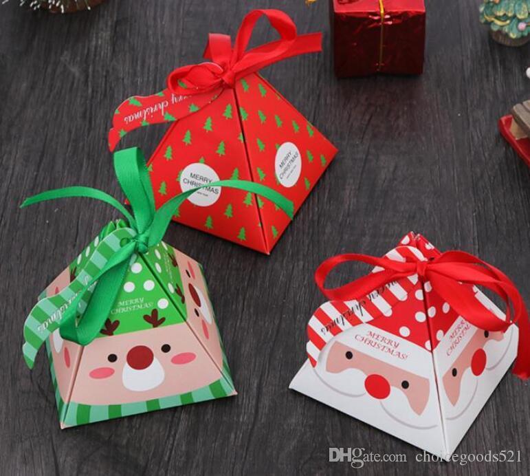 Cartoon Santa Claus Handbag Box Christmas Cake Candy Box Kids Xmas