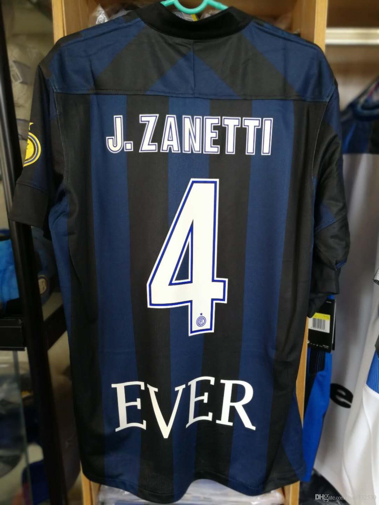 huge selection of 27794 f4d37 Free Shipping13-14 inter zanetti retired retro jerseys J.Zanetti CLASSIC  jersey