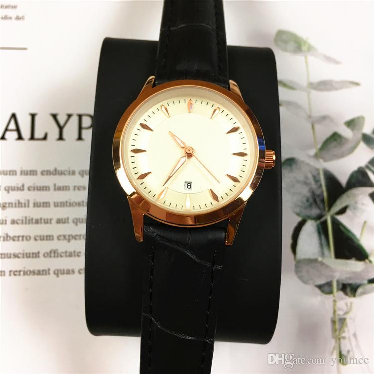 Clássico Relógios Das Mulheres Dos Homens relógio Ultra Fino Subiu Relógio de Pulso Masculino Relógio Feminino caixa de Gentleman relógios Relogio Masculino preço de Atacado