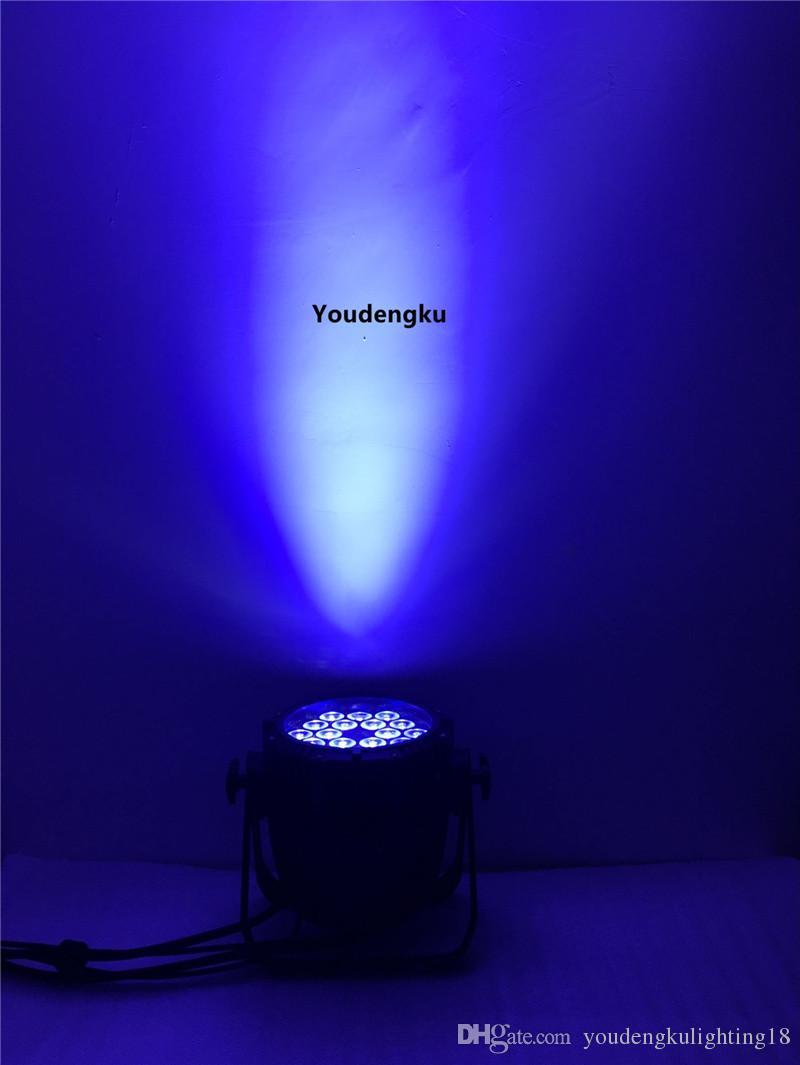 Flightcase ile 6 parça Su Geçirmez 18x15 w par sahne düğün için led ışık olabilir rgbwa led par ışık ip 65 led par ışık