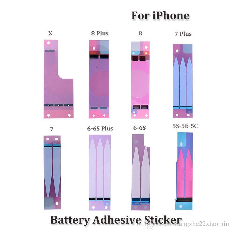 Großhandel für iphone 8 8 plus batterie gehäuse klebstoff für iphone 5 5 s 6 6 plus klebestreifen streifen aufkleber ersatz