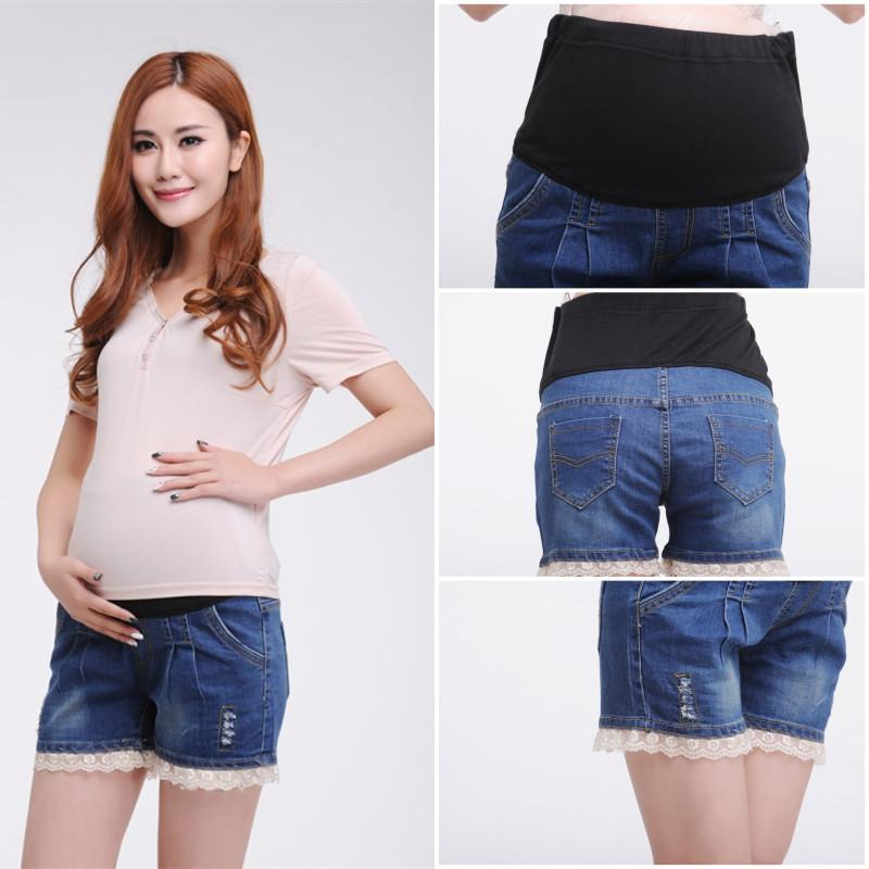 51d00a34330c5 2019 High Waisted Maternity Shorts Plus Size Denim Pants Clothes For Pregnant  Women Short Clothing For Pregnancy 2015 Summer Fashion From Newyearable, ...