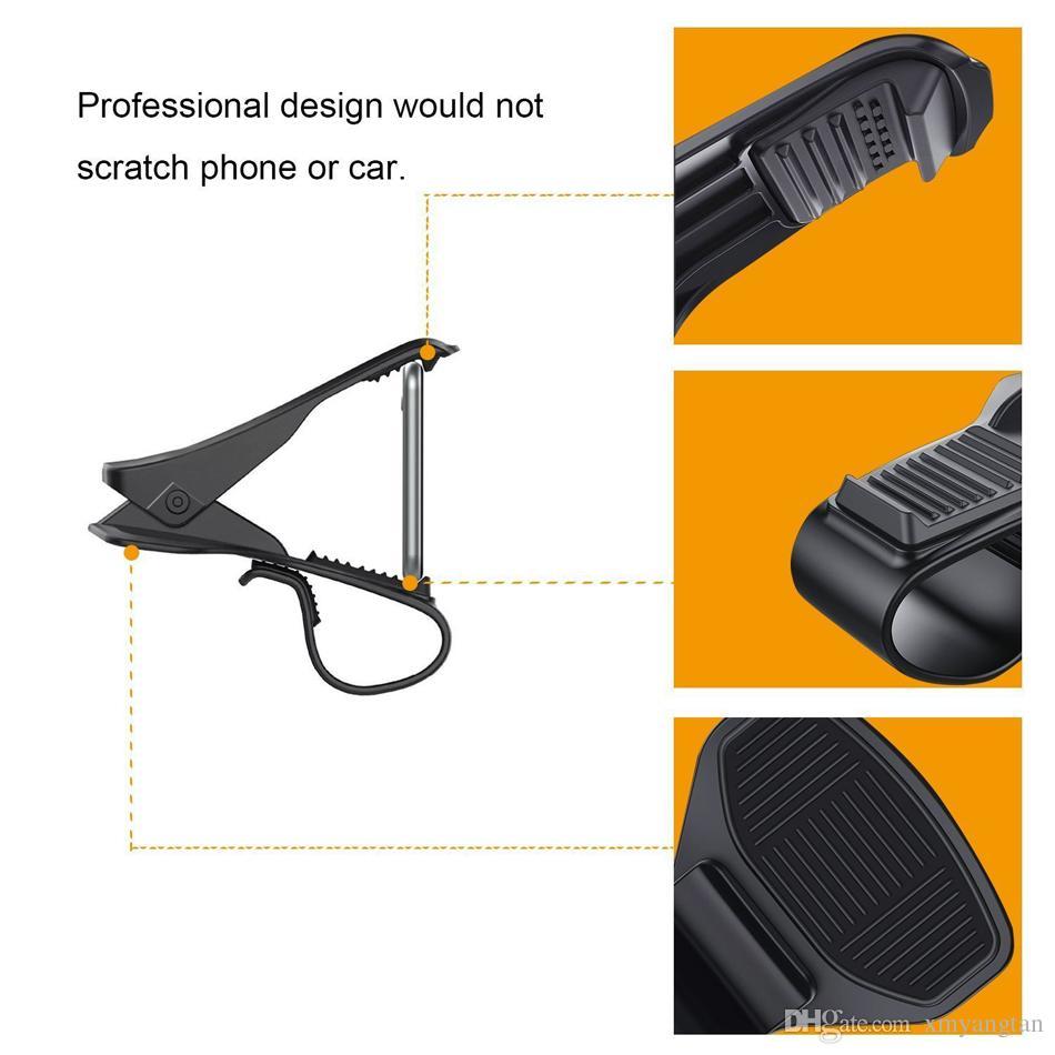Suporte do painel do carro universal suporte hud clipe de design suporte do carro do smartphone acessórios do telefone móvel suporte do telefone celular