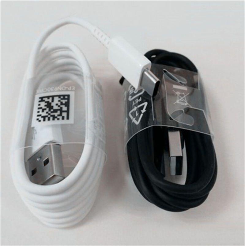 S8 USB Tipo C Cabos Carregador Rápido 2.1A 1.2m carregamento rápido Cabo de fio de sincronização de dados para Samsung S8 S8 plus com o pacote de varejo EP-DG950CBE