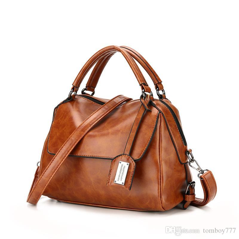 35a4862d2fcf New Fashion OL Handbag Women Shoulder Bags Famous PU Leather Ladies Tote  Messenger Bags Female Solid Color Sac A Fashion Bags Designer Handbags On  Sale From ...