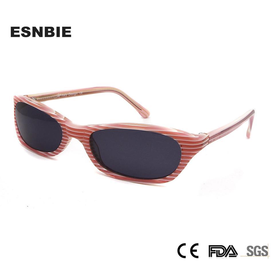 6e522f8e64f61 ESNBIE Acetate Small Sun Glasses Women S Sunglasses Trend 2018 Pink ...