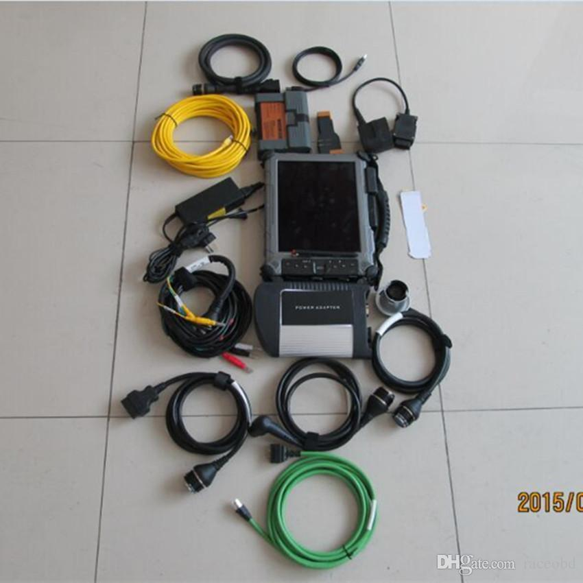 newest sd connect star c4 for bmw icom a2 super 2in1 mini ssd with table ix104 i7 cpu laptop ready to work