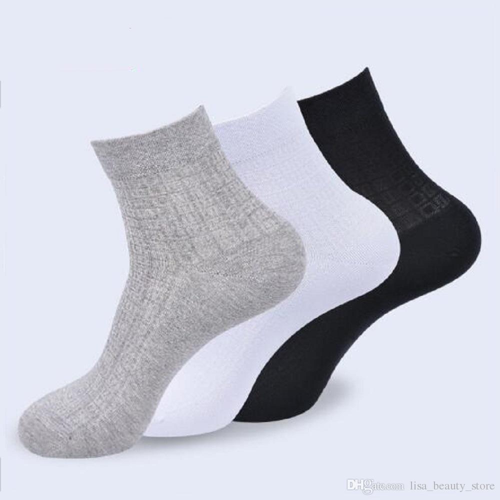 3 pares Calcetines Hombres Nuevos caliente mezcla de algodón clásico de la firma de negocios hombres calcetines deportivos Wholesale