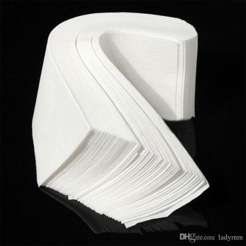 DHL Frete grátis 100 pçs / lote Tiras De Cera Profissional Depilação Depilação Papel Depilador papel não tecido epilating Atacado