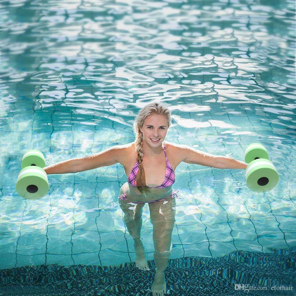 a9dd00e5589 2019 EVA Water Sport Aquatic Dumbells Barbell Set Of 2 For Water Aerobics  Yoga Exercise Training Fitness Equipment From Eforhair, $10.56 | DHgate.Com