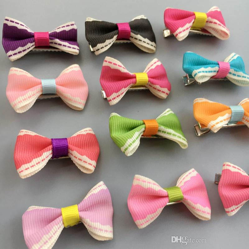 """1.4"""" Handmade Pet Dog Grooming Accessories Small Dog Hair Bows Cat Hair alloy clips Boutique variety Colors"""