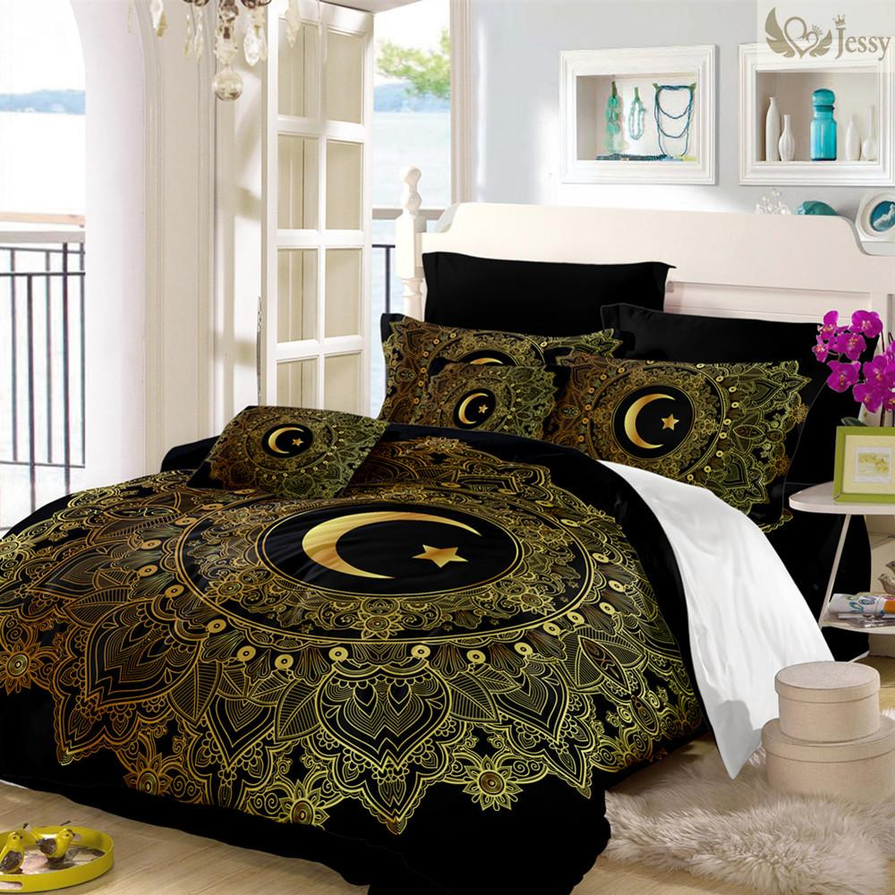 Good Jessy Home /Golden Pattern Comforter Cover Elephant Bedding Set US Twin  Full Queen King Luxury Sun Duvet Cover Set Queen Duvet Cover Set Duvet Set  Queen ...