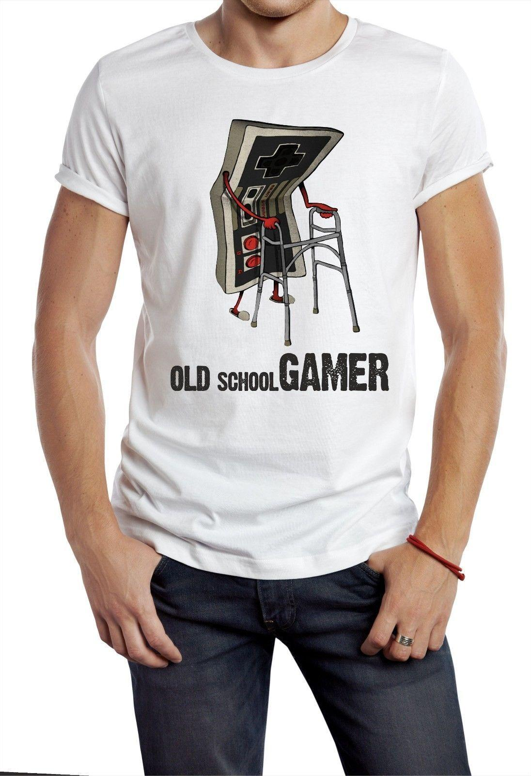 OLD SKOOL GAMER T-SHIRT THE FLASH TV RETRO CONTOLLER 80S 90S CONSOLE GEEK NERD 1