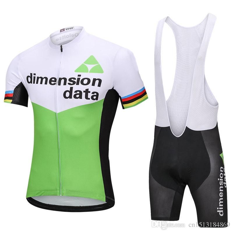 848f57015 UCI 2018 Pro Team Dimension Data Short Sleeve Cycling Jersey Bib Shorts Kit  Ropa Ciclismo Breathable Bicycle Clothing MTB Bike Jersey Set Mountain Bike  ...