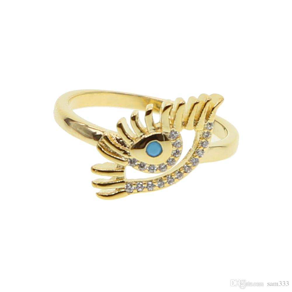 Turkish Evil Eye Rings Jewelry Girlfriend Best Friends Rings Couple Lover  Rings Gold Color Fashion Turkey Jewelry Selling 2018 UK 2019 From Sam333 5449080fab20