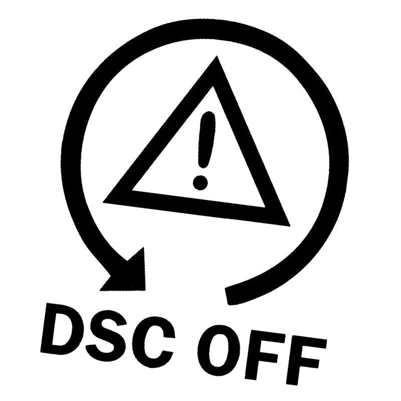 Dsc Off Car Sticker Symbol Fun Drift Stickers Vinyl