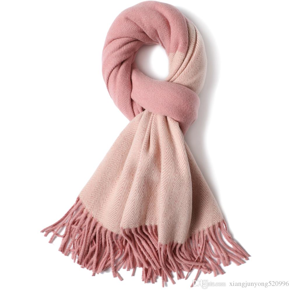 2019 New Christmas Gifts Girlfriend\'s Gift 100% Wool Plaid Scarf ...