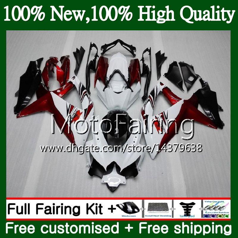 Cuerpo para SUZUKI GSXR750 08 09 10 K8 Rojo oscuro GSXR 600 08 10 26MF17 GSX-R750 GSX-R600 GSXR 750 GSXR600 2008 2009 2010 Hot Fairing Bodywork