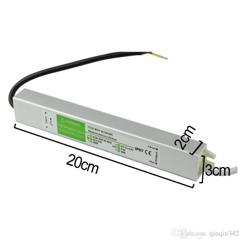 CA 110-240V à CC 12V 15W - 200W imperméabilisent l'alimentation d'énergie extérieure de conducteur électronique de conducteur électronique a mené des lumières sous-marines d'adaptateur de transformateur de bandes