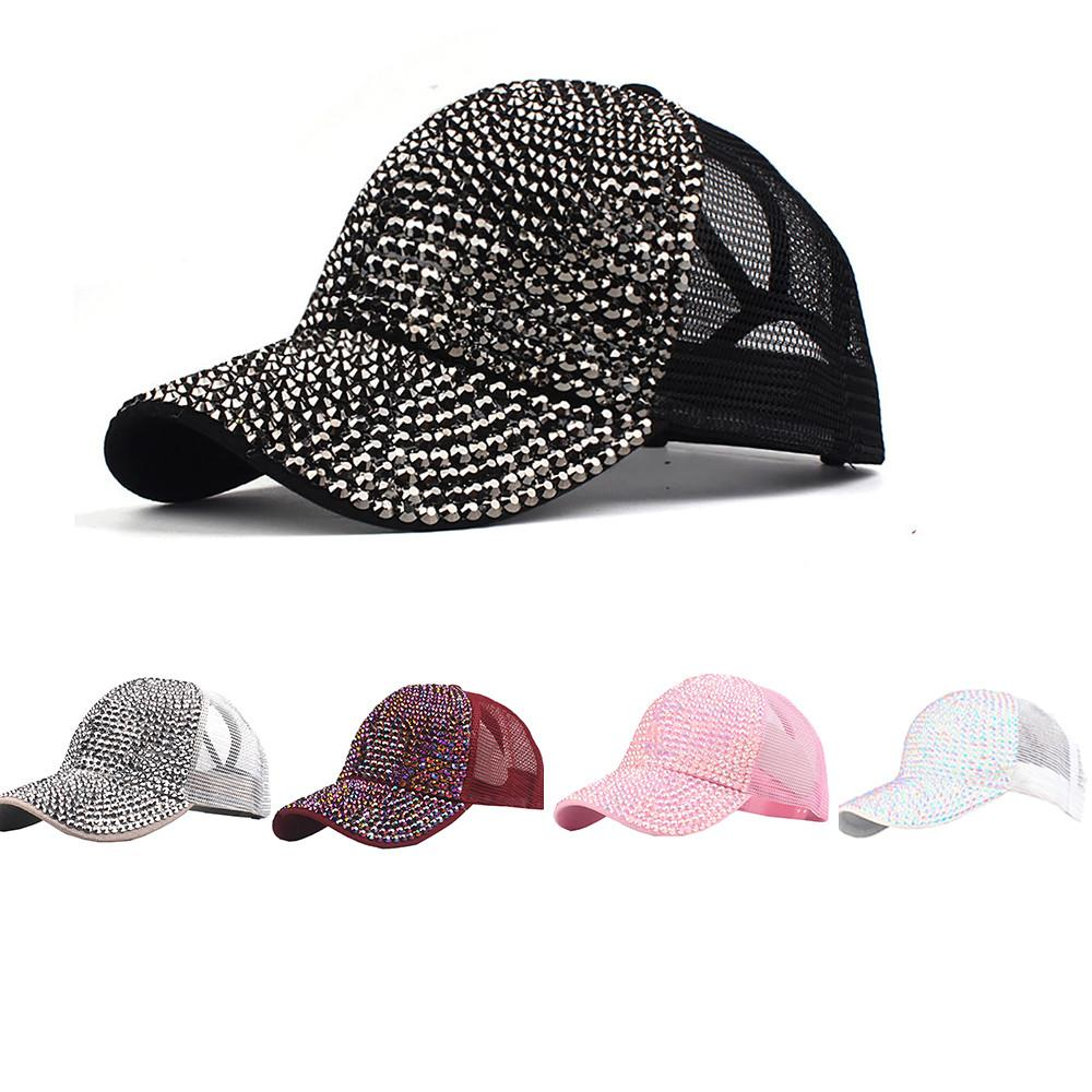 6c1c8fe6a13 KANCOOLD Unisex Fashion Women Rhinestone Outdoor Baseball Cap Bling Diamond  Hat Adjustable Hip Hop Baseball Caps Couple PJ0913 Mens Hats Baseball Cap  From ...