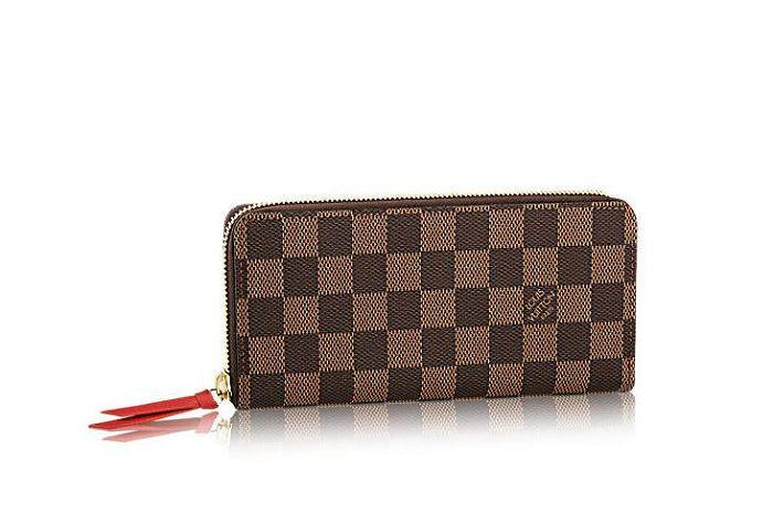 7b2cc6609005 NEW N60534 Clemence Wallet Damier Ebene Canvas Women Wallet OXIDIZED LEATHER  CLUTCHES EVENING LONG CHAIN WALLETS COMPACT PURSE White Wallet Womens  Credit ...