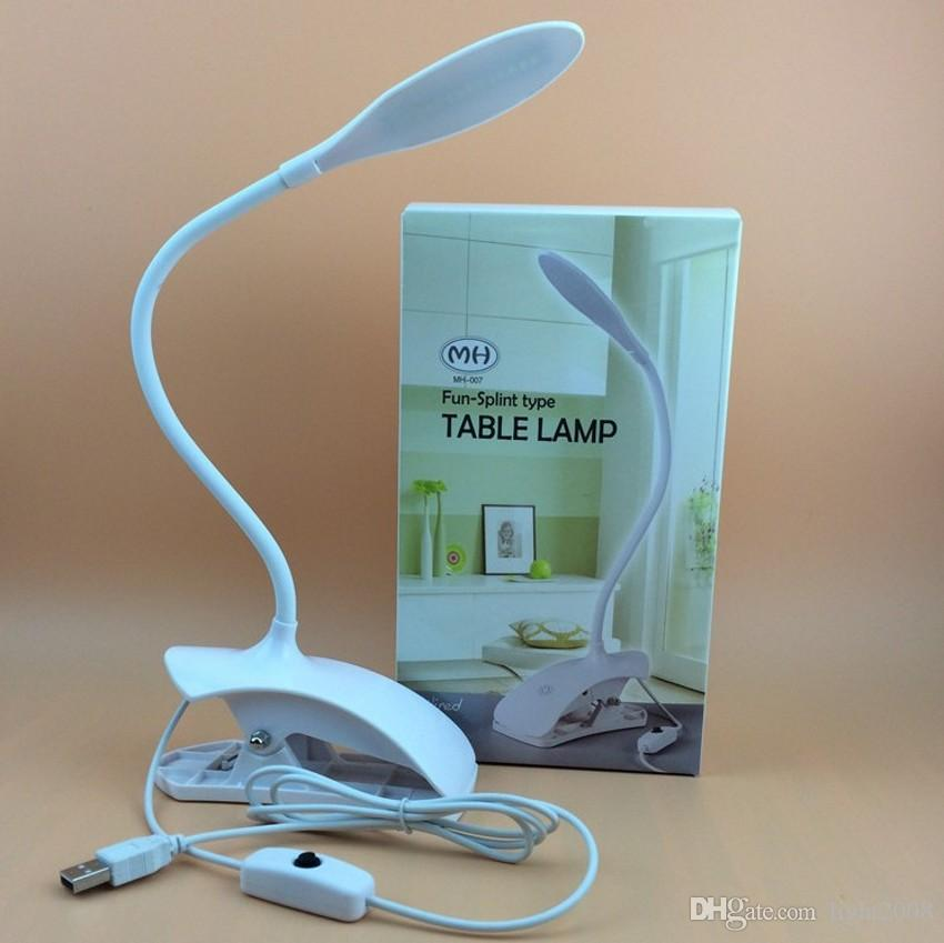 USB Portable Book Light Distorted Small Table Lamp Adjustable Reading Lamp LED Electronic Book Lamp Computer Light Clip Book Light