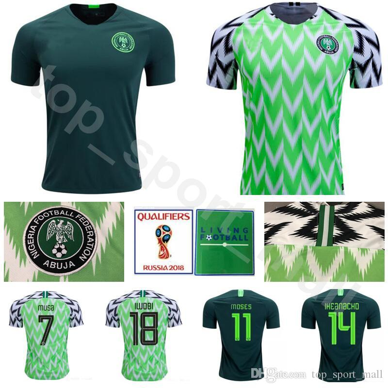 2019 2018 World Cup 7 Ahmed Musa Jersey Soccer 10 MIKEL 11 MOSES 9 STARBOY  14 IHEANACHO Football Shirt Kits 18 IWOBI Green From Top sport mall 6b2fa4ad3