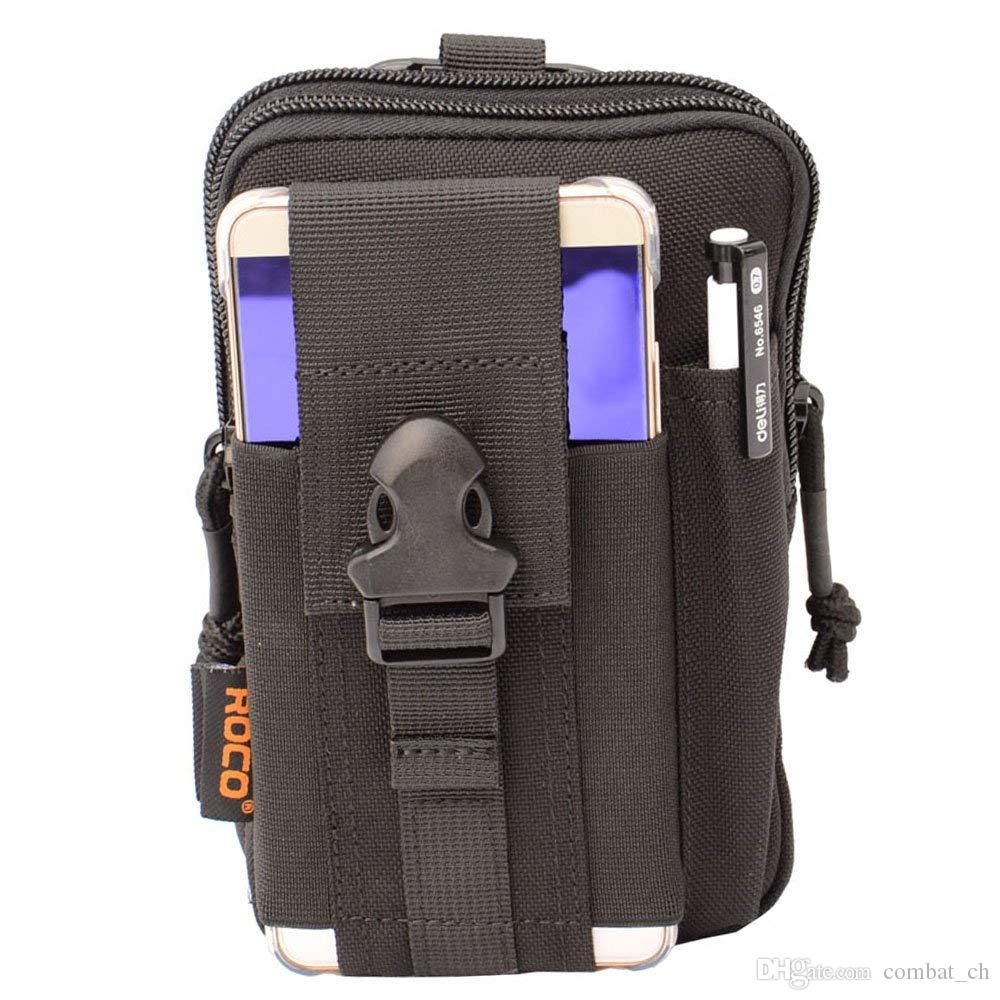 Sports & Entertainment 1000d Waterproof Outdoor Edc Men Tactical Molle Pouch Bag Backpack Gadget Belt Waist Bag With 6 Inch Cell Phone Holder