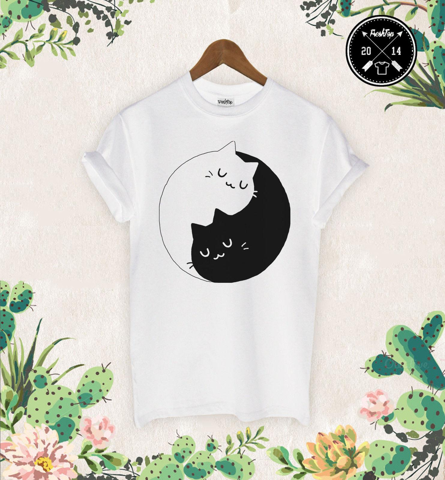 62ffaafbc Kitten Kittens T Shirt Meow I Love Cats Crazy Cat Lady Sweet Yin Yang  Unicorn T Shirt On Buy Cool Shirts From Clothing_deals, $12.96| DHgate.Com