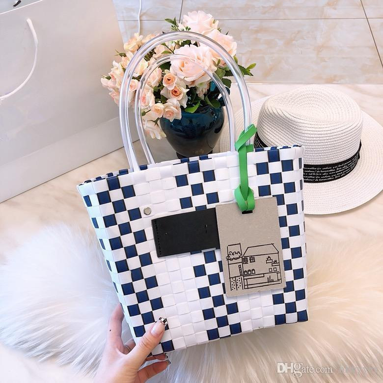 7fc0a8efac68 Ins Hot 2018 Fashion High Quality Hand Woven Shopping Bag Portable Bag Wine  Bags Wholesale Best Reusable Grocery Bags From Hlwyyes