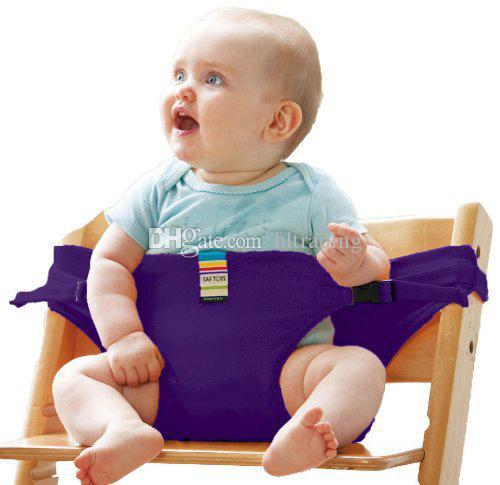Bebek Sandalyesi Taşınabilir Bebek Koltuğu Ürün Yemek Öğle Yemeği Sandalye / Koltuk Emniyet Kemeri Besleme Yüksek Sandalye Koşum Bebek Sandalye Koltuk 8 Renkler C4180