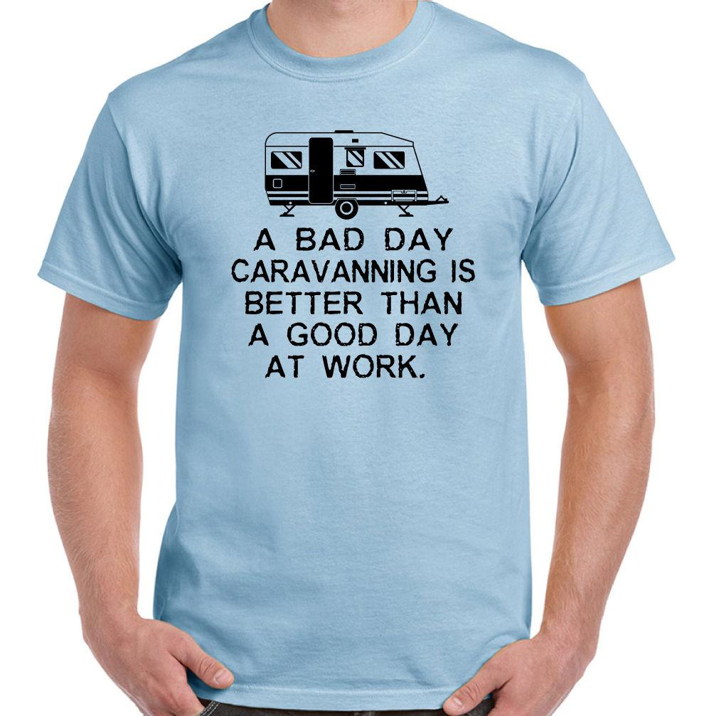 3558c04fcd A Bad Day Caravanning Mens Funny Camping T Shirt Caravan Awning Equipment  TentFunny Unisex Casual Tshirt Gift Day Shirt Tee T From Allin1cases, ...