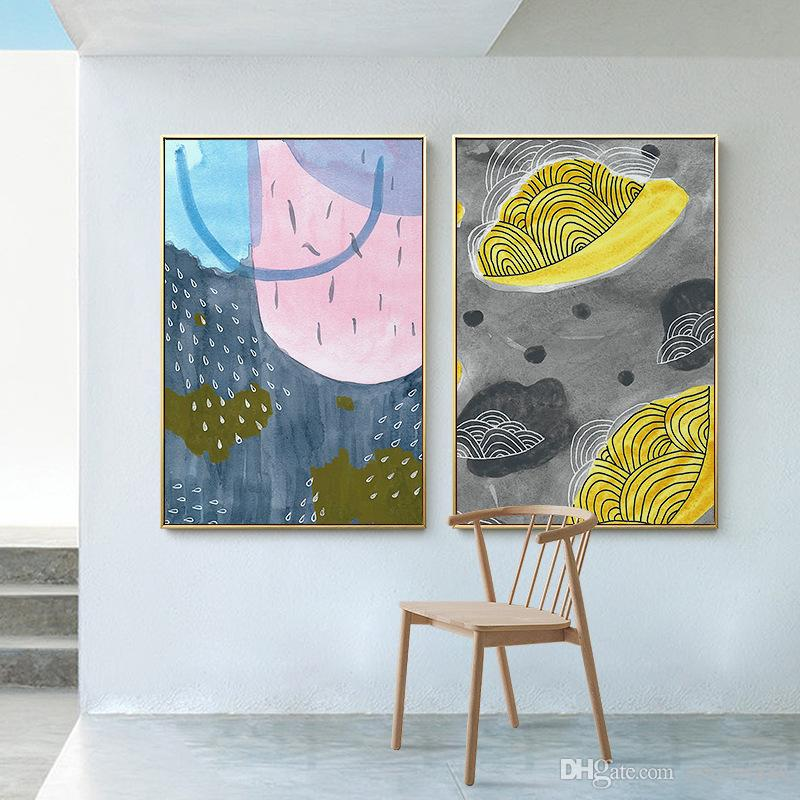 2019 Decorative Painting Nordic Minimalist Modern Living Room Sofa