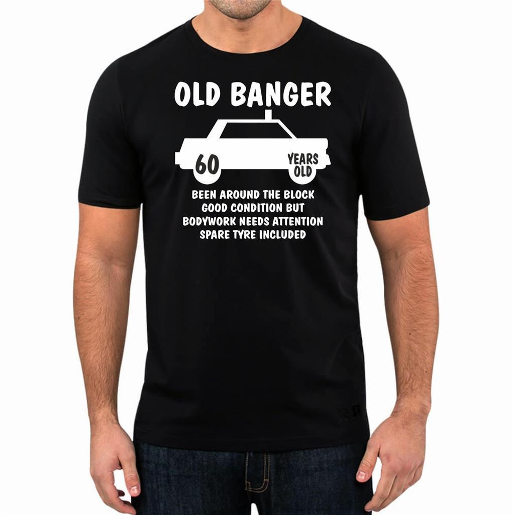 60th Birthday Gift Present Year 1958 Old Banger Funny Unisex T Shirt Tee Black Shirts Long Sleeve From Geersfarm 1296