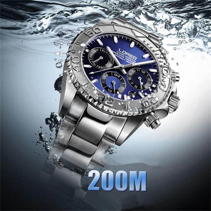 79144dfb59b1 Compre LOREO Hombres Reloj Automático Moda Casual Plata Acero Inoxidable  Reloj Hombre Fecha Automática Original Diver Reloj De Pulsera O78 A  136.51  Del ...