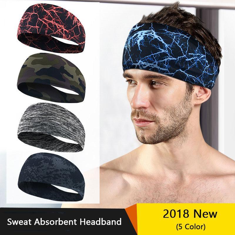 b6bea91f292c 2019 Breathable Sports Headband Lycra Cycling Running Yoga Sweat Headband  For Men Women Sweatband Head Bandage Straps Dropshipping From Teawugong