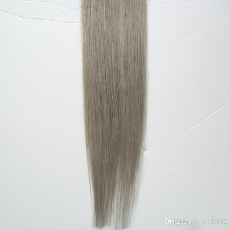 T1B/grey grey ombre human hair Nail U Tip Capsule Human Hair Extension 100g/strands silver pre bonded hair extensions