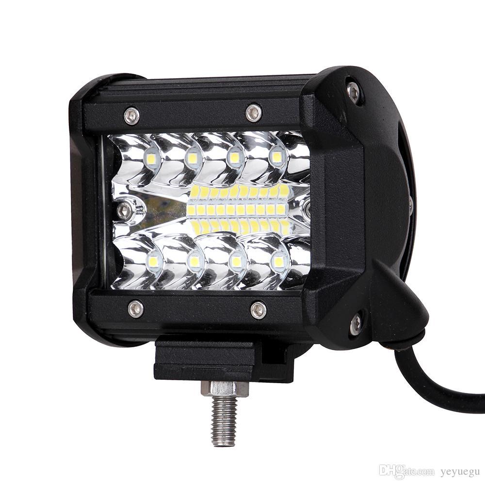 ecahayaku 4inch 60w spot led light bar driving fog lights bulb led