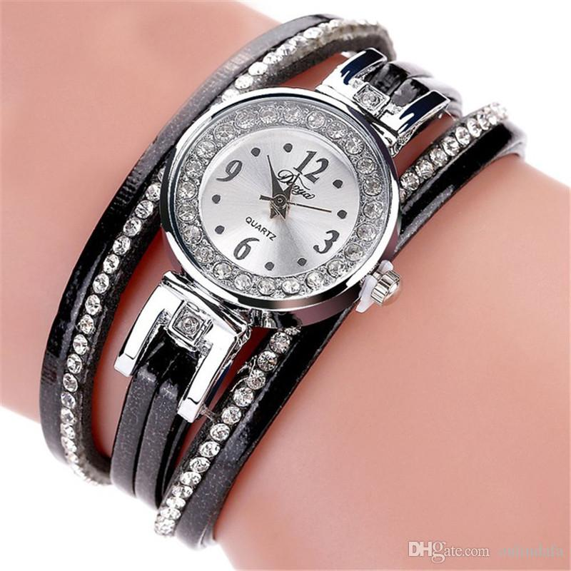 99b980112e Watches Women Luxury Fashion Silver Clock Wristwatch Sport Watch New  Christmas Gift S0131 Women Watches Women Bracelet Watch Leather Bracelet  Online with ...