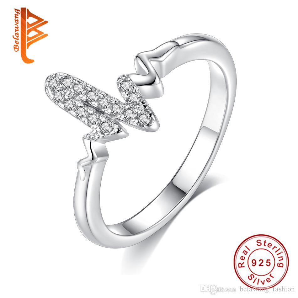 SALE Sterling Silver Feather Ring Cubic Zirconia CZ Women Ring Band Girl Rings