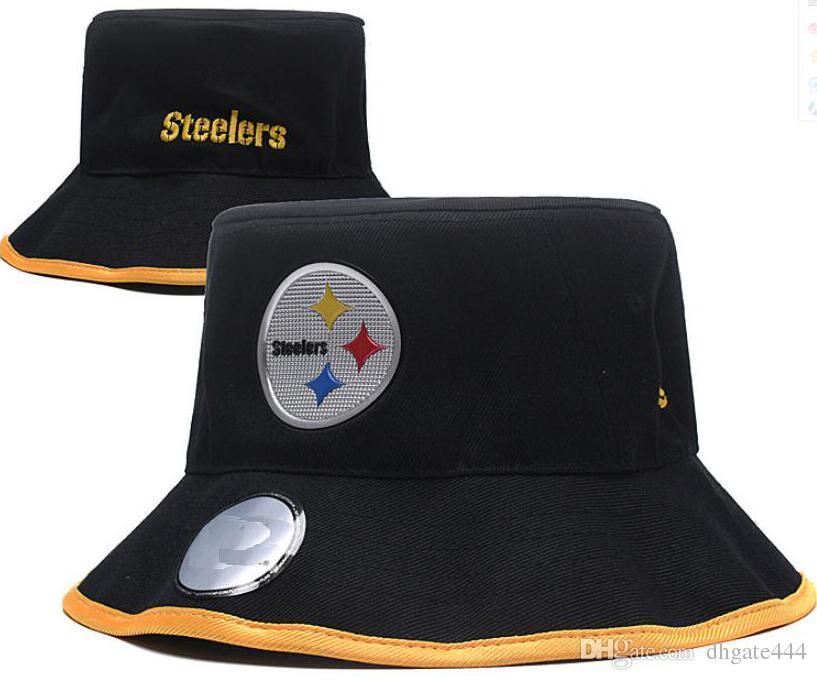 8b7b8f9726cef ... real 2018 fashion embroidery pittsburgh cap bucket hats fisherman hat  stingy brim football buckets hats cotton
