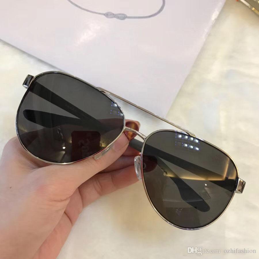 28989b1da0dd6 Compre Óculos De Sol De Luxo Para Mulheres Dos Homens Prada SPR 54T  Designer De Moda Popular SPR 54 T Grande Estilo Verão Lente De Proteção UV  De Alta ...