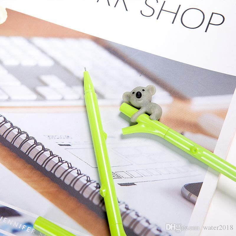 Sevimli Koala Ayı Jel Kalem Yazma için 0.5mm Rulo Topu Siyah Renk Kalem Ofis Kawaii Kırtasiye Aksesuarları Okul Malzemeleri 351