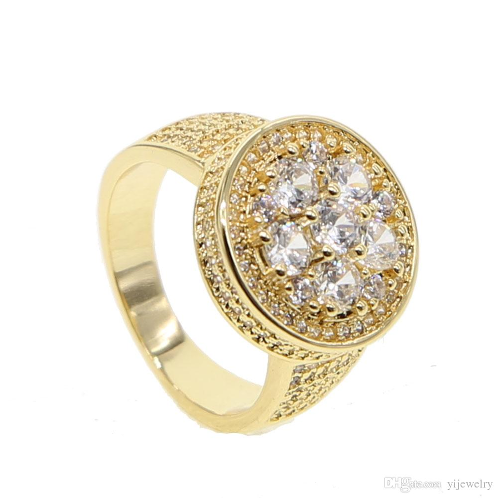 2019 Wedding Ring For Men Size 9 10 European Iced Out Bling Boy
